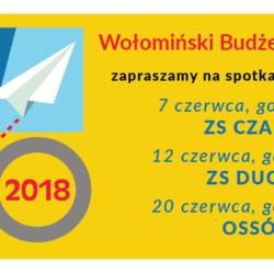 Zapraszamy na spotkania dotyczące Wołomińskiego Budżetu Obywatelskiego!