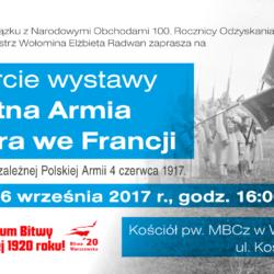 Wystawa Błękitna Armia gen. Józefa Hallera we Francji