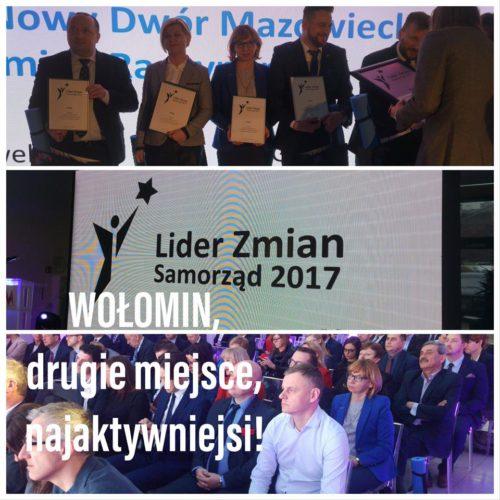Gmina Wołomin laureatem w Plebiscycie Lider Zmian 2017