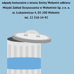 Harmonogramy odbioru odpadów komunalnych na terenie miasta i gminy Wołomin w 2018 roku