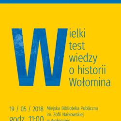 Wielki Test z Historii Wołomina - rejestracja!