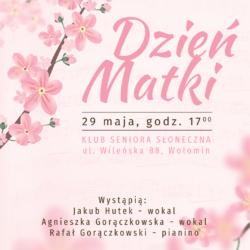"""Koncert z okazji Dnia Matki w Klubie Seniora """"Słoneczna"""""""