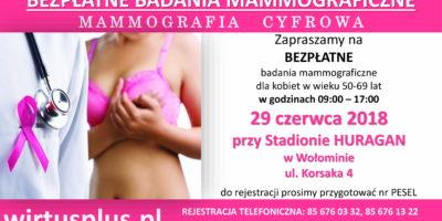 Bezpłatna mammografia na Huraganie
