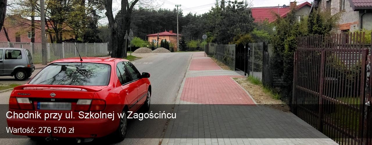 Chodnik przy ul. Szkolnej w Zagościńcu