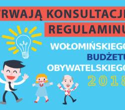 Konsultacje Regulaminu Wołomińskiego Budżetu Obywatelskiego