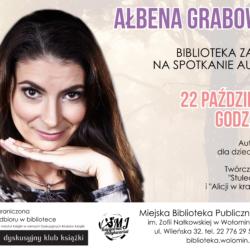 Spotkanie z pisarką Ałbeną Grabowską