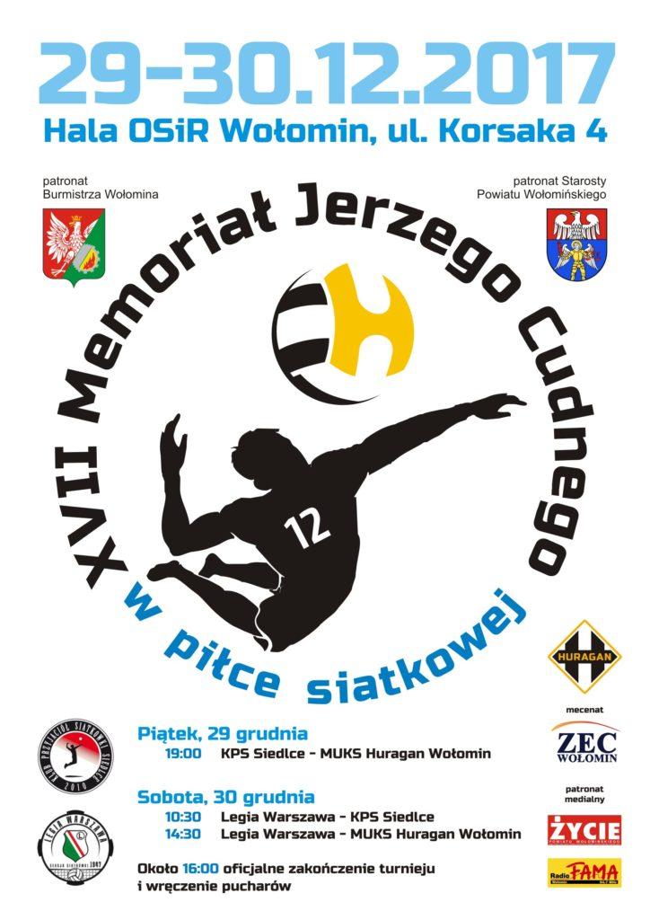 XVII Memoriał J. Cudnego w piłce siatkowej 29-30.12.2017