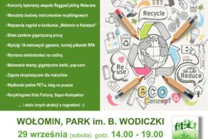 Festyn Ekologiczny – 29 września (sobota) godz. 14:00 – 19:00 Park im. B. Wodiczki