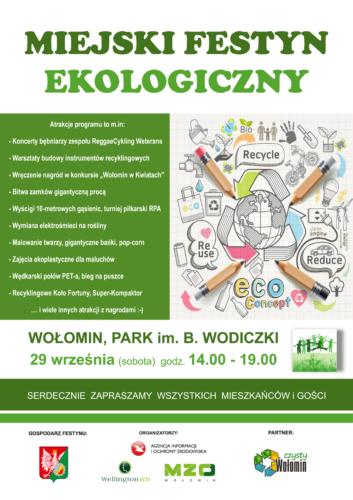 Festyn Ekologiczny - 29 września (sobota) godz. 14:00 - 19:00 Park im. B. Wodiczki