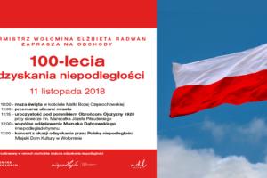100. rocznica odzyskania przez Polskę niepodległości – program uroczystości