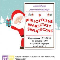 Biblioteczne warsztaty świąteczne w Ossowie