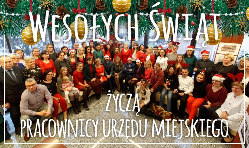 Życzenia od pracowników Urzędu Miejskiego w Wołominie