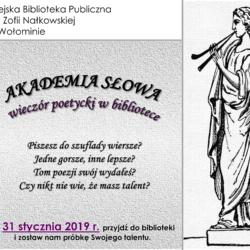 Akademia Słowa V edycja - wybór talentów do 31 stycznia
