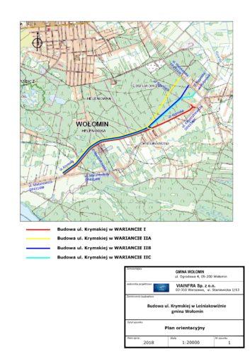 Koncepcja budowy ul. Krymskiej w Leśniakowiźnie