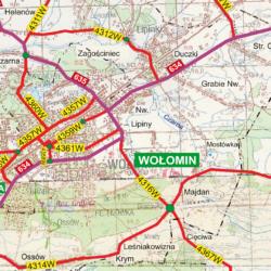 Wykaz dróg gminnych, powiatowych i wojewódzkich