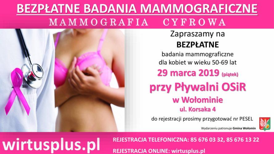 Mammografia na Huraganie w marcu