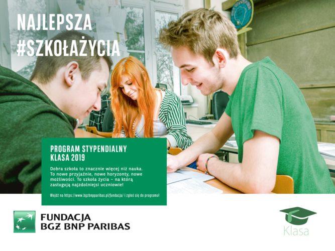 """Rekrutacja do XVII edycji programu stypendialnego """"Klasa"""""""