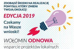 Rusza konkurs Wołomin Odnowa: wsparcie projektów lokalnych