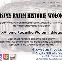 Ruszają prace nad XV tomem Rocznika Wołomińskiego!