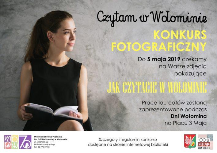 """Konkurs fotograficzny """"Czytam w Wołominie"""""""