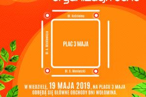 Zmiana organizacji ruchu wokół Placu 3 Maja w dn. 19.05.2019