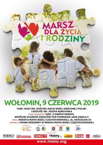 """""""Marsz dla Życia i Rodziny"""" już po raz 7 w Wołominie"""