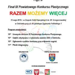 """Finał IX Powiatowego Konkursu Plastycznego pt. """"Niepełnoprawni są wśród nas"""""""