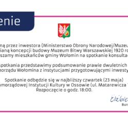 Spotkanie w sprawie budowy Muzeum w Ossowie