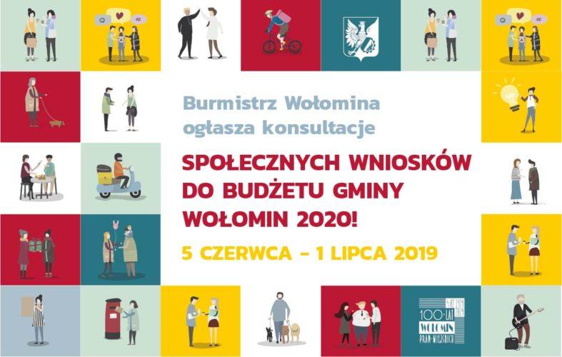 Rozpoczynamy konsultacje społecznych wniosków do budżetu Gminy Wołomin na rok 2020