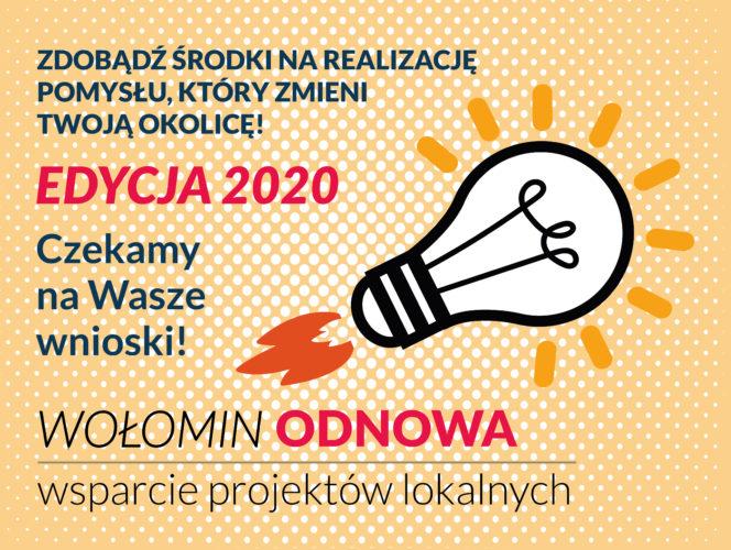Weź udział w tegorocznej edycji Wołomin Odnowa: wsparcie projektów lokalnych
