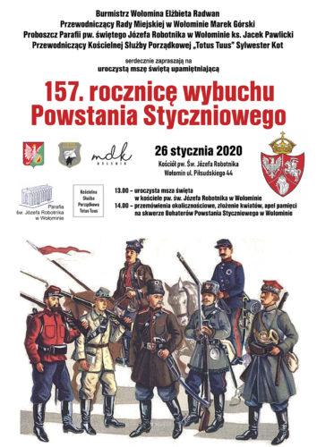 Obchody 157 rocznicy wybuchu Powstania Styczniowego