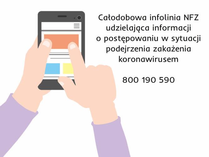 Koronawirus - NFZ uruchomił infolinię