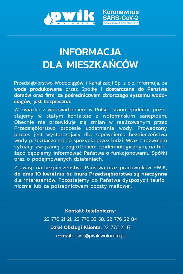 Komunikat PWiK w Wołominie
