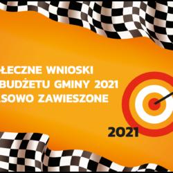 Społeczne Wnioski do Budżetu na 2021 r. zawieszone!