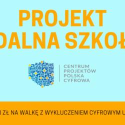 Przyznano nam grant w wysokości 94 923,00 zł w ramach programu Zdalna Szkoła