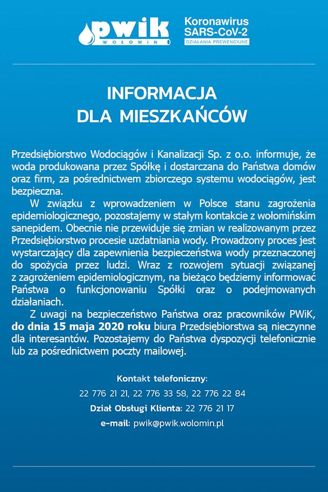 Komunika PWiK z dn. 27.04.2020