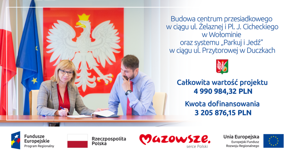 3,2 mln zł dofinansowania na inwestycje przy PKP Wołomin i PKP Zagościniec