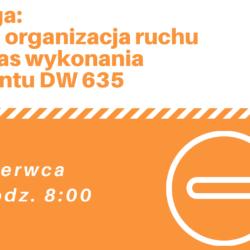 Zmiana w organizacji ruchu od 25.06 godz. 8:00 – remont DW 635