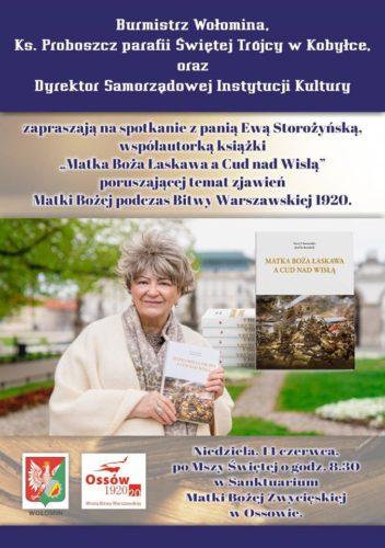"""Spotkanie z Ewą Storożyńską, współautorką książki """"Matka Boża Łaskawa a Cud nad Wisłą"""""""