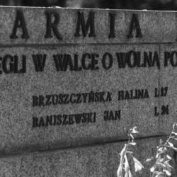 """76. rocznica śmierci sanitariuszki Halinki Brzuszczyńskiej ps. """"Mała"""""""