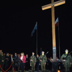 Apel Poległych przy Krzyżu upamiętniającym bohaterską śmierć ks. Ignacego Skorupki