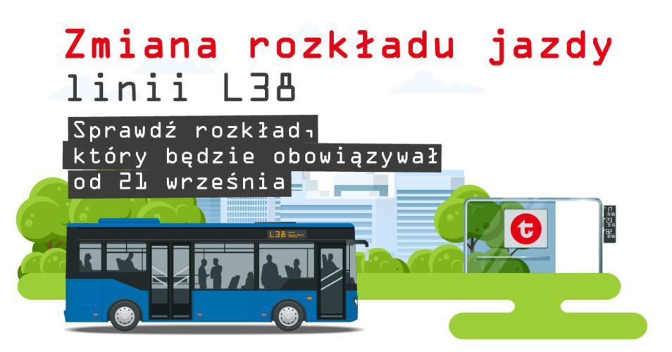 Zmiana rozkładu jazdy linii L38 od 21 września