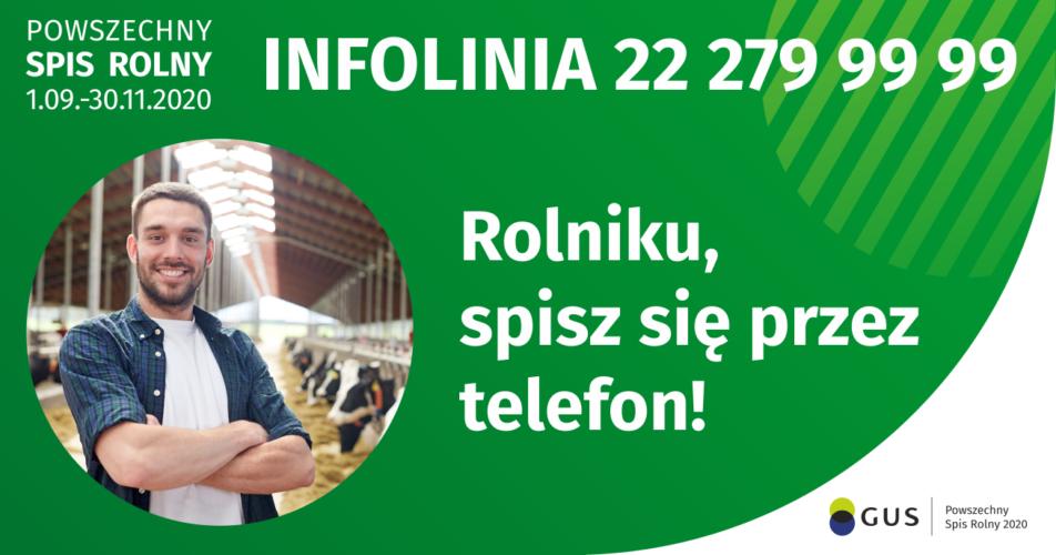 Rolniku! Spisz się przez telefon!