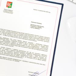 życzenia Burmistrz Wołomina, list