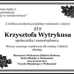 Kondolencje dla Rodziny Krzysztofa Wytrykusa