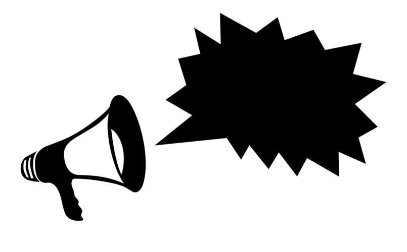 głośnik, komunikat