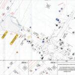 mapka z czasową organizacją ruchu linia L40
