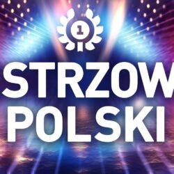 grafika z napisem Mistrzowie Polskie oraz medal za I miejsce