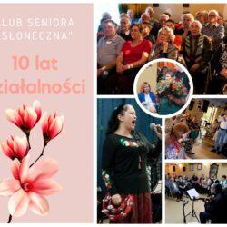 Grafika ze zdjęciami Klubu Seniora