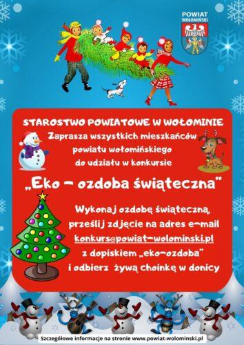 plakat o ozdobie świątecznej